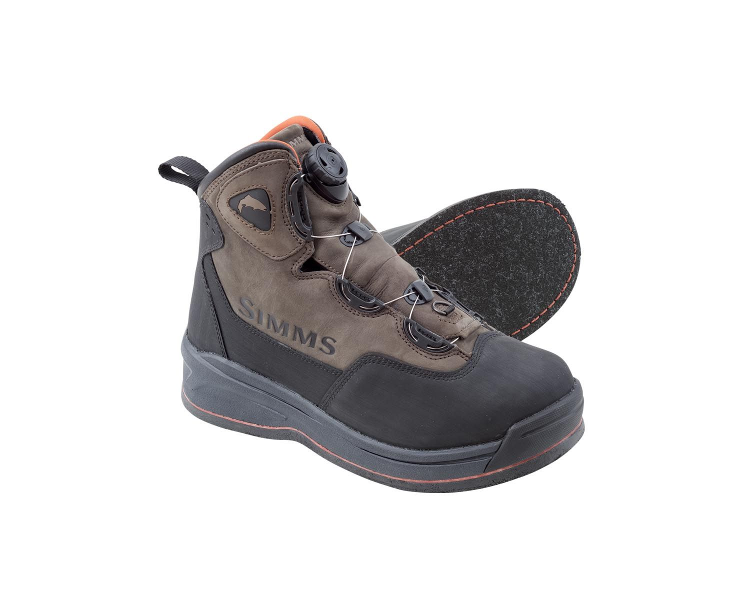 simms headwaters felt sole wading boots